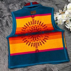 Pendleton Vintage Wool Vest Multicolored Sun
